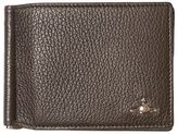 Vivienne Westwood Tumbled Leather Clip Wallet