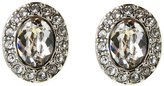 Givenchy Silver-Tone Havasu Oval Button Earrings