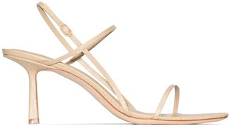 Studio Amelia Snake-Effect Strappy Sandals