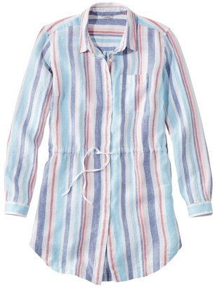 L.L. Bean L.L.Bean Women's Premium Washable Linen Drawstring Tunic, Stripe