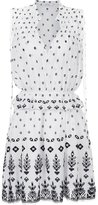 Derek Lam 10 Crosby allover print flared dress - women - Cotton - 8