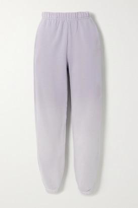 LES TIEN Ombre Cotton-jersey Track Pants - Lilac