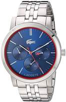 Lacoste Women's 'Metro' Quartz Stainless Steel Automatic Watch, Color:Silver-Toned (Model: 2010878)