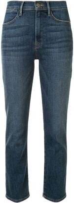 Frame High Ankle Straight-Leg Jeans
