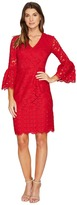 Maggy London Lace Sheath Dress with Novelty Sleeves