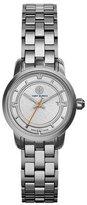 Tory Burch 28mm Tory Bracelet Strap Watch, Silvertone
