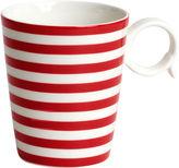 Asstd National Brand Red Vanilla Freshness Lines Porcelain Coffee Mug
