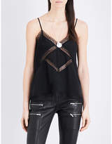 The Kooples Lace-insert silk camisole