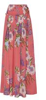 Diane von Furstenberg Floral Maxi Wrap Skirt