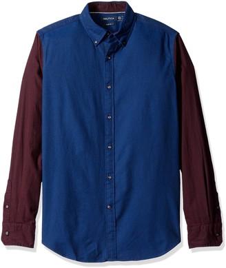 Nautica Men's Slim Fit Helmsman Color Block Shirt