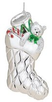 Reed & Barton Silver Stocking Ornament Gift Boxed