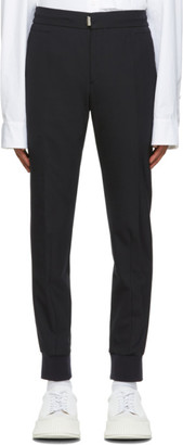 Wooyoungmi Navy Wool Cuffed Trousers