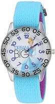 Disney Girl's 'Cinderella' Quartz Plastic and Nylon Watch, Color:Blue (Model: W002938)