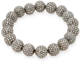 Artisan Women's Silver & 21.90 Total Ct. Diamond Ball Bracelet
