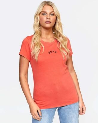 RVCA Junior's LA Tige Short Sleeve Crew Neck T-Shirt
