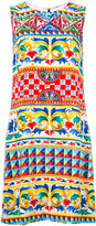 Dolce & Gabbana printed shift dress - women - Silk/Spandex/Elastane/Viscose - 38