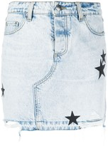 Amiri star patch denim skirt