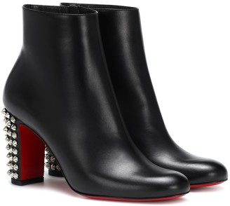 Christian Louboutin Suzi Folk 85 leather ankle boots