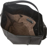 Bottega Veneta Intrecciato leather and glossed-ayers shoulder bag