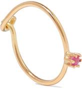 Saskia Diez Wire Solitaire 18-karat Gold Sapphire Earring - one size