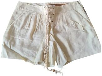 Diane von Furstenberg Ecru Cloth Shorts
