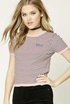 Forever 21 Stripe Mermaid Patch Top
