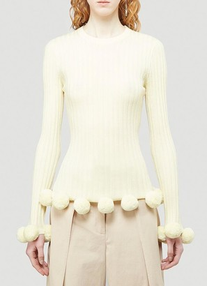 J.W.Anderson Pompom Ribbed Sweater