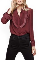 Free People Women's Pintuck Chiffon Blouse