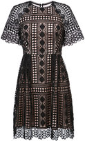 Nicole Miller lace detail dress
