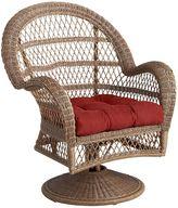 Pier 1 Imports Santa Barbara Light Brown Swivel Rocking Chair
