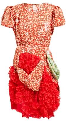 Preen by Thornton Bregazzi Floral-print Satin And Lace Mini Dress - Red Print