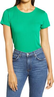 Halogen Crew Neck Short Sleeve T-Shirt