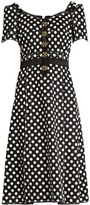 Dolce & Gabbana Polka-dot fitted cady dress