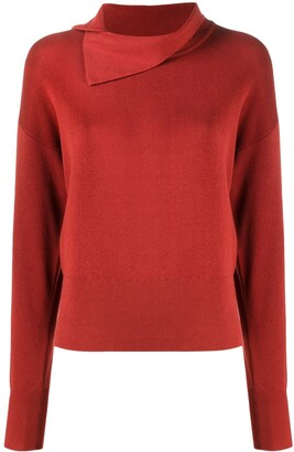 Kenzo Asymmetric-Collar Knitted Top