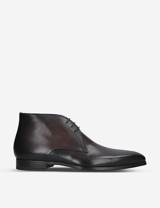 Magnanni Derby leather lace up boots