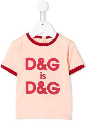 Dolce & Gabbana Kids central logo T-shirt