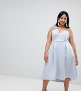 Asos DESIGN Curve premium corsage strap prom dress