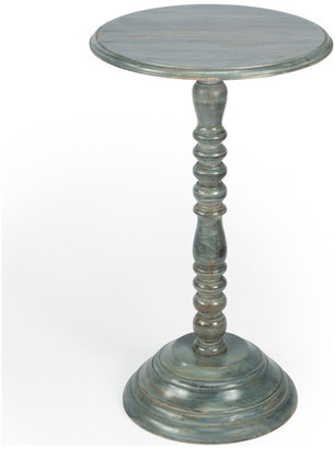 Butler Artifacts Gray Pedestal Accent Table