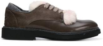 Lorena Antoniazzi fur-trimmed shoes
