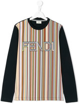 Fendi striped logo T-shirt