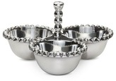 Threshold Divided Serving Bowls Aluminum Silver
