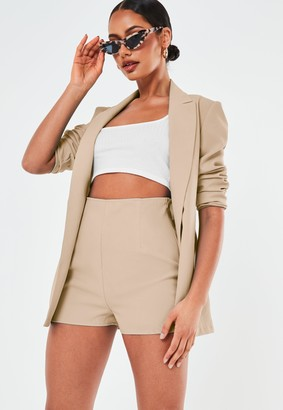 Missguided Stone Co Ord Tailored Shorts