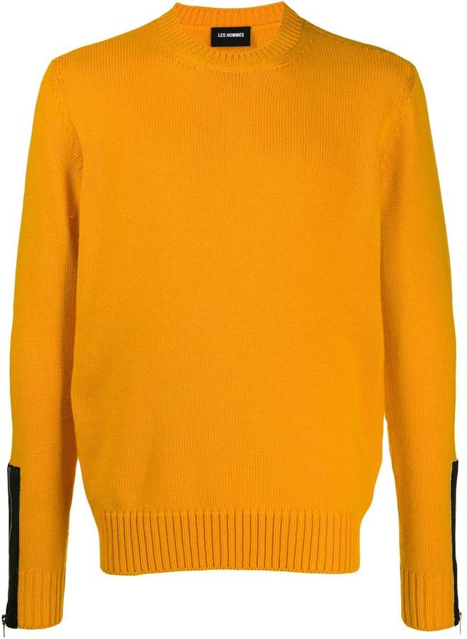 Les Hommes contrasting cuff jumper