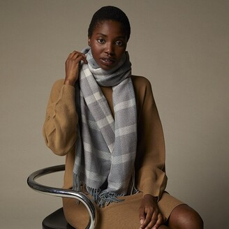 Love & Lore Love And Lore Supersoft Heather Grey/Trooper Blue Tara Plaid Supersoft Scarf