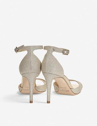 Jimmy Choo Annie 85 glitter heeled sandals