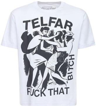 Telfar Graphic Print Cotton T-Shirt