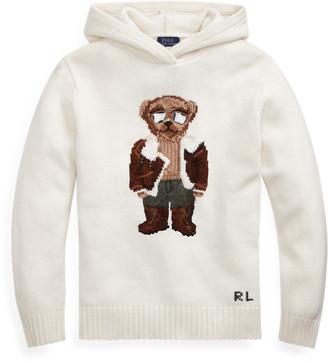Ralph Lauren Aviator Polo Bear Knit Hoodie