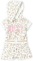 juicy couture (Newborn/Infant Girls) Glitter Leopard Print Terry Romper