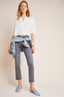AG Jeans The Isabelle High-Rise Button-Fly Slim Jeans By in Grey Size 25