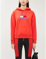 Tommy Jeans Bling logo-embellished cotton-jersey hoody
